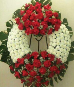 Corona de flores fúnebres