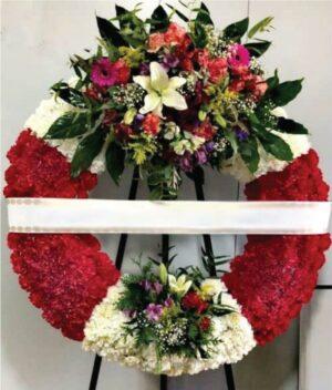 Corona de flores fúnebre